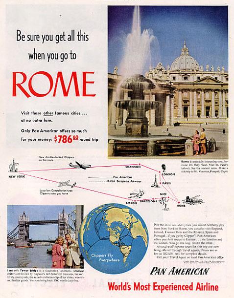 Airline-panamericanairwaysad-1950-01-rome-n